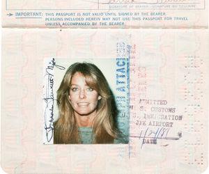 70s, girl, and passport image