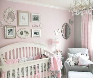 baby, pink, and nursery image