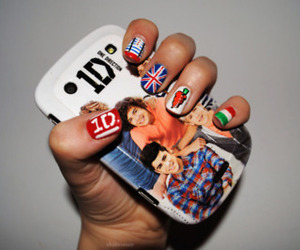 one direction, 1d, and nails image