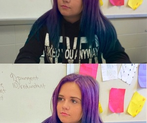 dyed hair, girl, and teen image