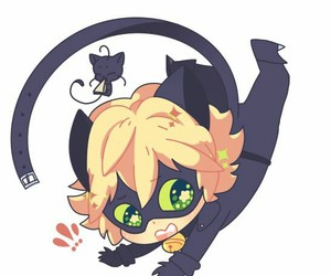 Chat Noir, plagg, and chibi image