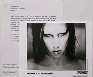 b&w, Marilyn Manson, and Mechanical Animals image