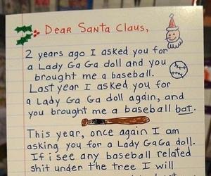 Lady gaga, baseball, and christmas image