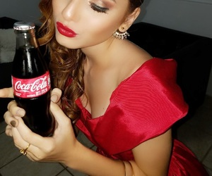 cocacola, cola, and makeup image