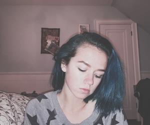 blue, manic panic, and blue hair image