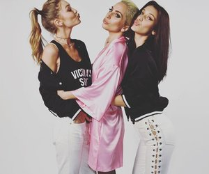 Lady gaga, bella hadid, and gigi hadid image