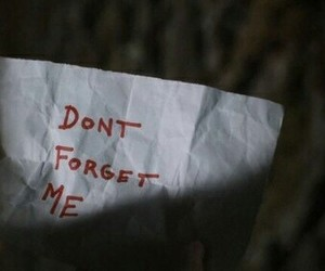 please and don't forget me image