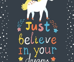 unicorn, believe, and dreams image