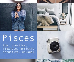 Collage, pisces, and zodiac image