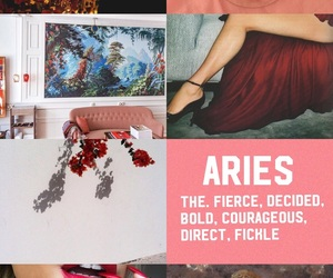aries, Collage, and zodiac image