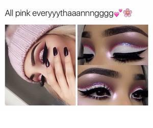 eyes, girly, and eyeshadow image