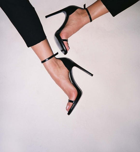 black, high heels, and shoes image