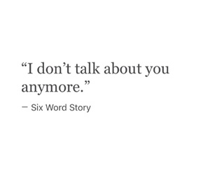 depression, sad, and six word story image