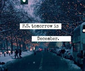 christmas, snow, and december image