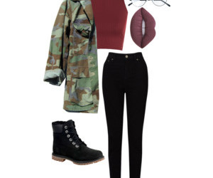 clothes, grunge, and military jacket image