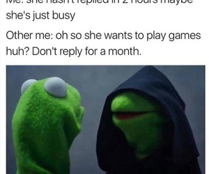 funny, kermit, and memes image
