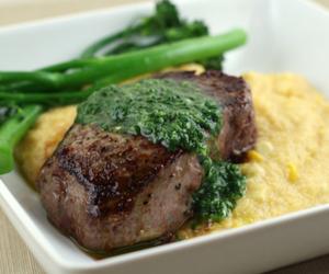 cilantro, steak, and pesto image