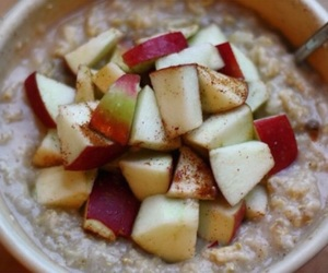 food, apple, and oatmeal image