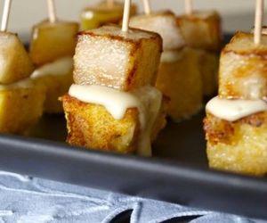 finger food, appetizer, and polenta image