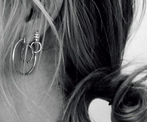 accessory, blonde, and earrings image