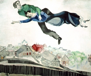 art, Flying, and marc chagall image