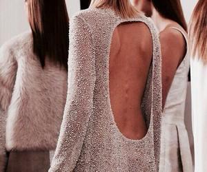 rose gold, dress, and model image