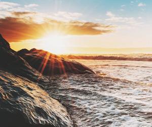 beach, nature, and sun image