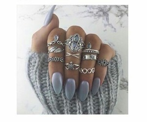 grey, jewelry, and nails image