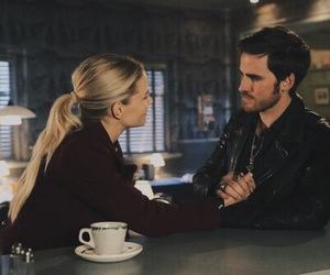 couple, once upon a time, and captain hook image