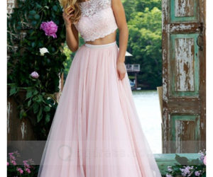 pink prom dress and cheap prom dresses image