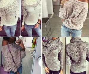 sweater, pref, and love image