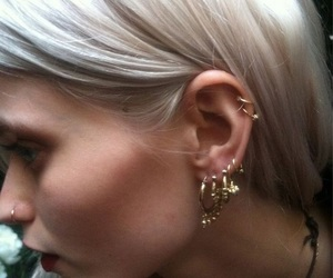 Abbey Lee Kershaw, earring, and piercing image