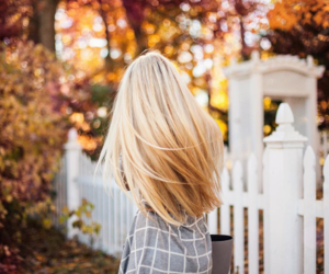 hair, girl, and autumn image