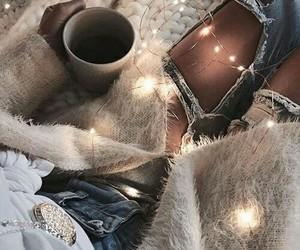 light, coffee, and christmas image