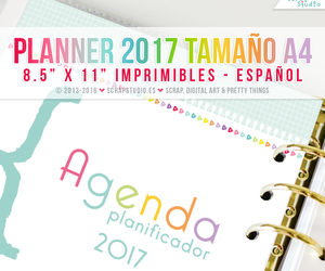 a4, planner, and spanish image