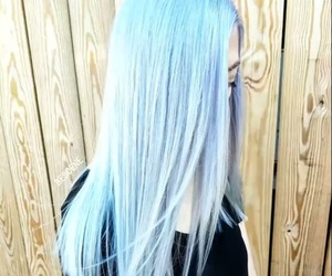 blue, blue hair, and goals image