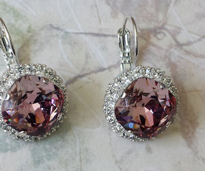 etsy, crystal earrings, and anniversary gifts image