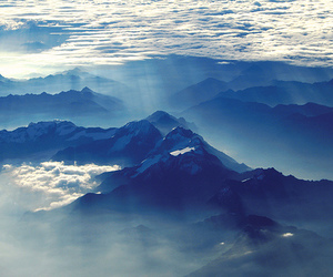 mountains, blue, and sky image