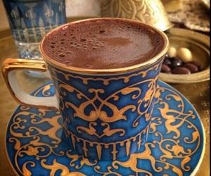 blue, pretty, and caffeine image