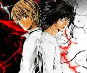 kira, death note, and L image