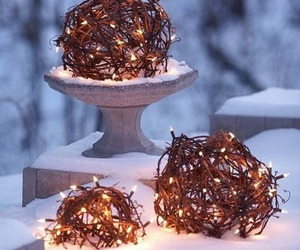balls, lights, and noel image