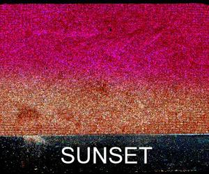 eyeshadow, makeup, and sunset image