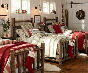 christmas, bedroom, and cozy image