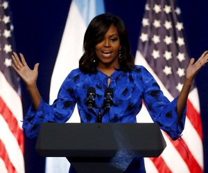 beautiful, blue dress, and first lady image