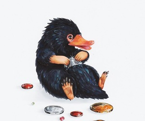 harry potter, fantastic beasts, and niffler image