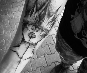 tattoo, art, and Queen image