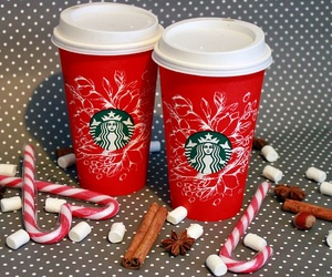 christmas, starbucks, and drink image