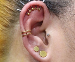 beauty, body modification, and earrings image