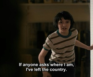 stranger things, quotes, and mike image