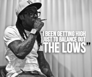 black and white, drugs, and lil wayne image